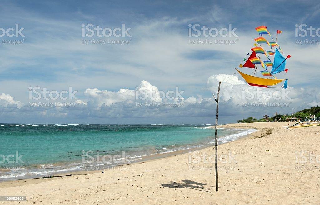 Beach Kite Panorama stock photo