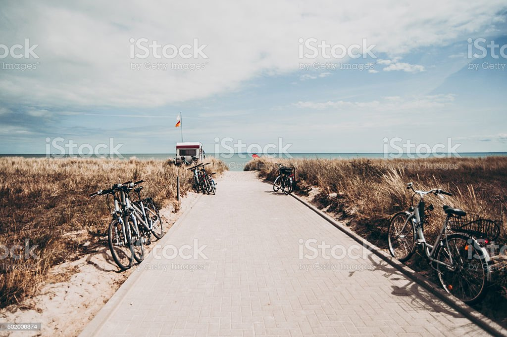 Beach landscape in Rugen Germany Europe stock photo