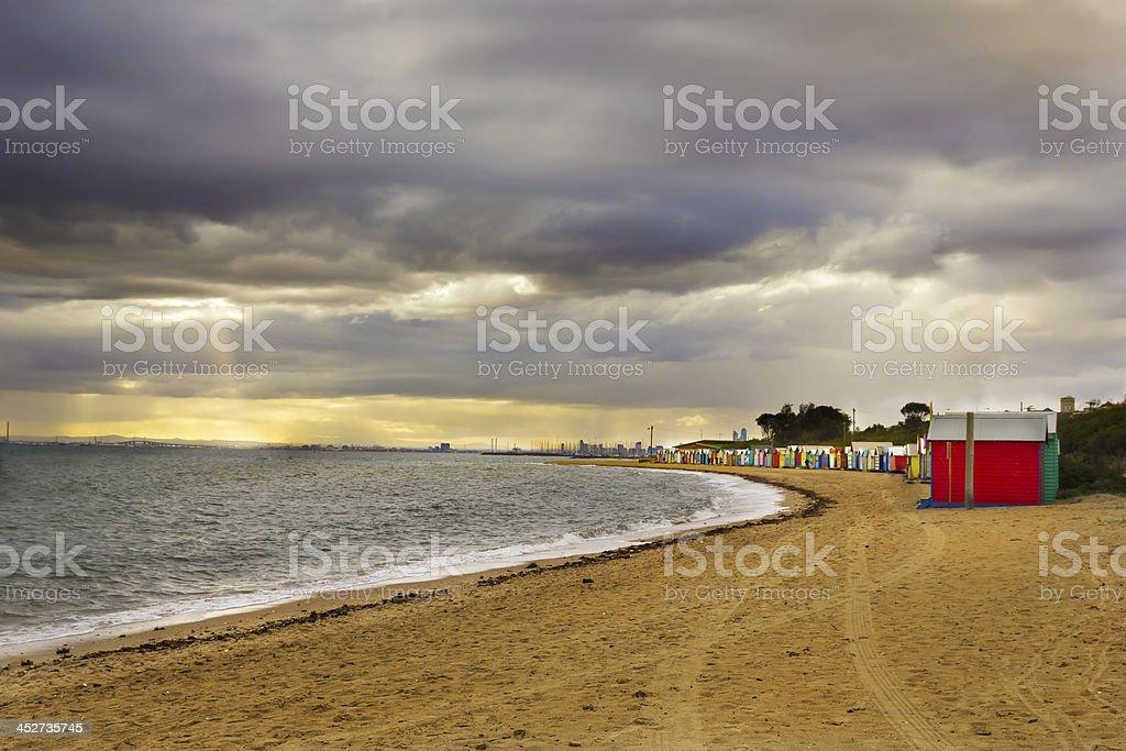 Beach landscape royalty-free stock photo