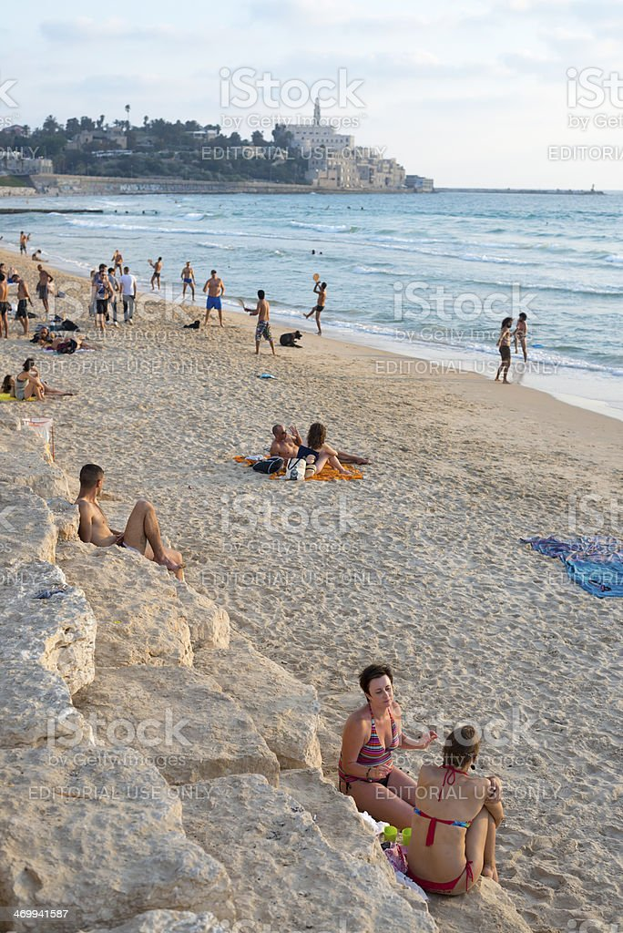 Beach life in Israel royalty-free stock photo
