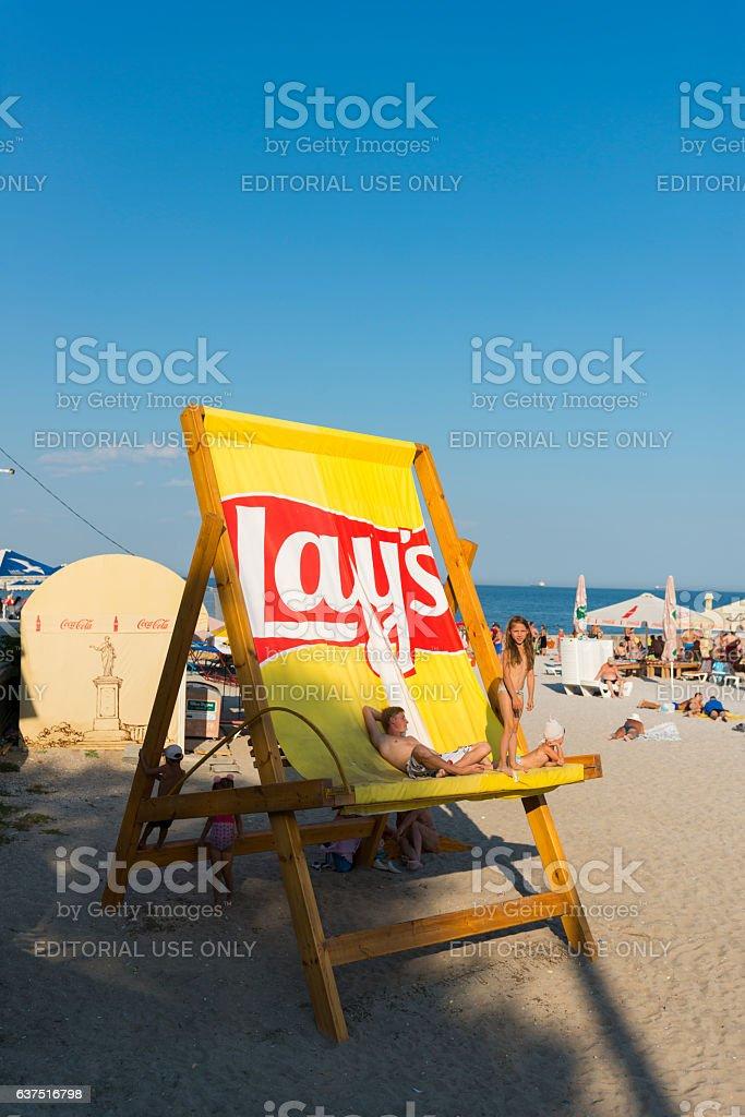 Beach life in Odessa, Ukraine stock photo