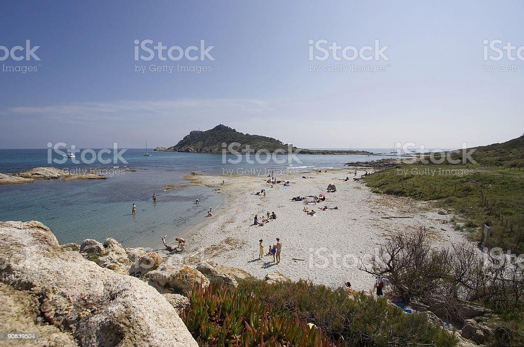 beach life wide angle royalty-free stock photo