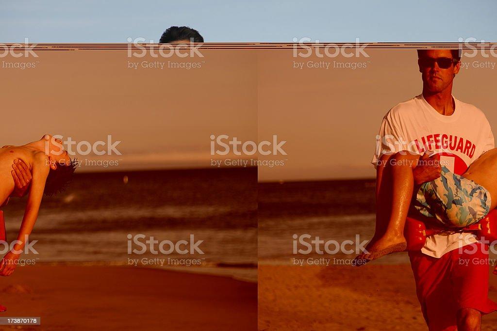 Beach Lifeguard Rescue stock photo