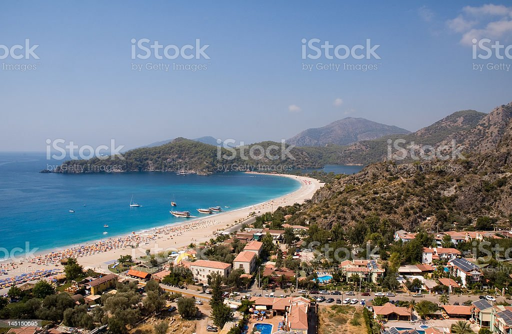 Beach line royalty-free stock photo