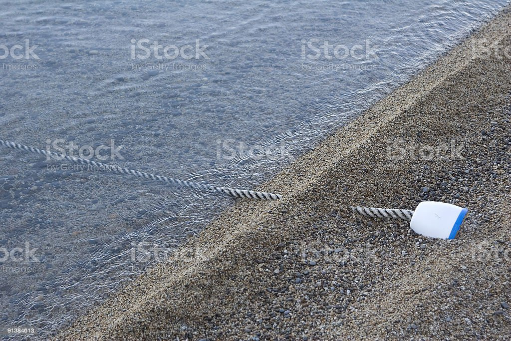 Beach Line royalty-free stock photo
