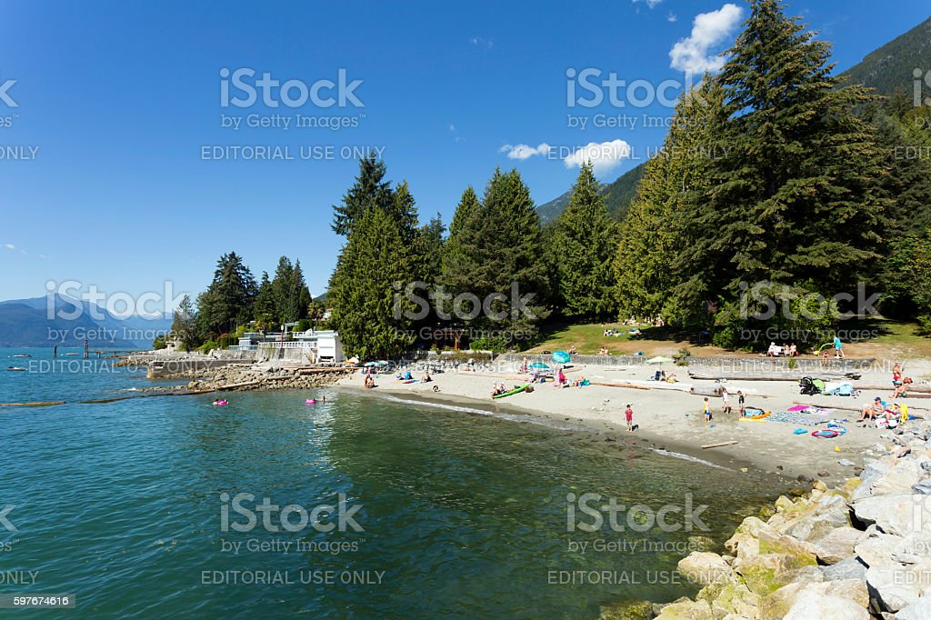Beach Lions Bay West Vancouver stock photo