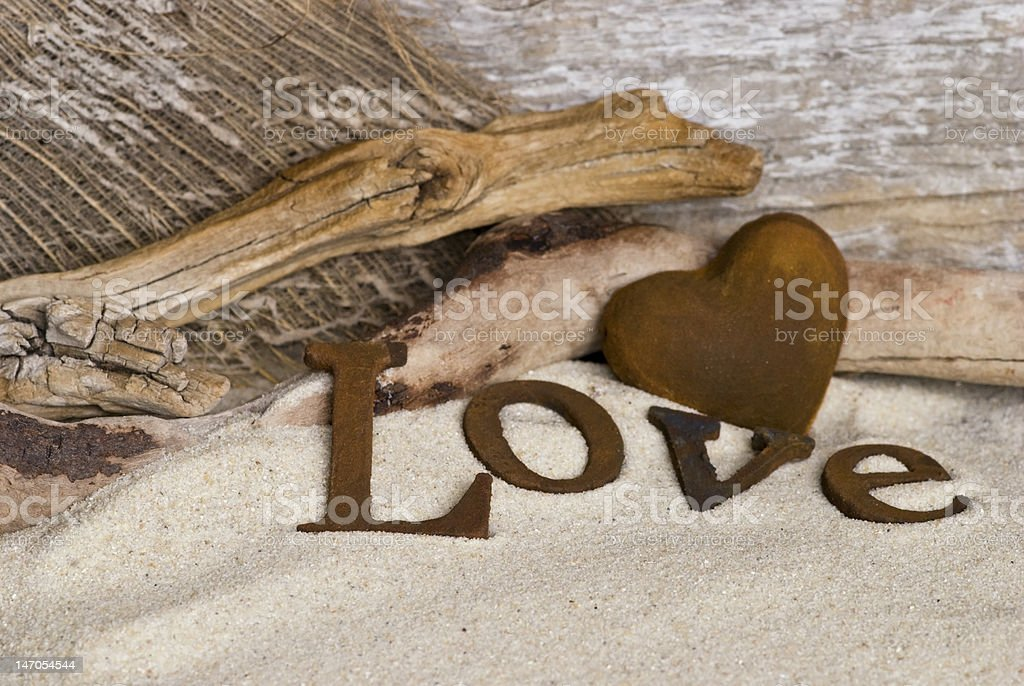 beach love royalty-free stock photo