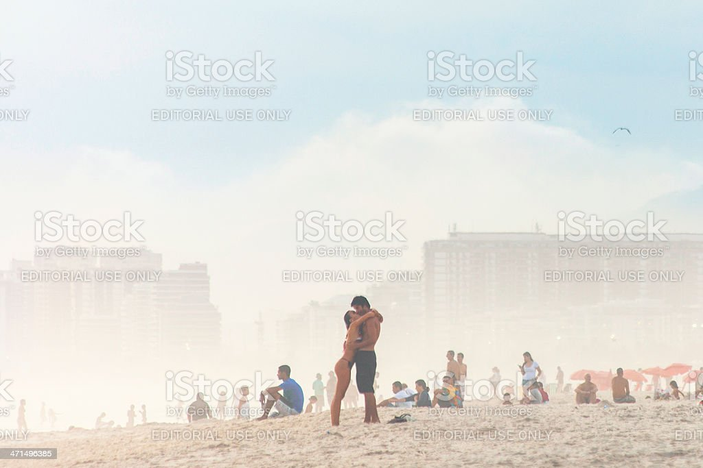 Beach love. royalty-free stock photo