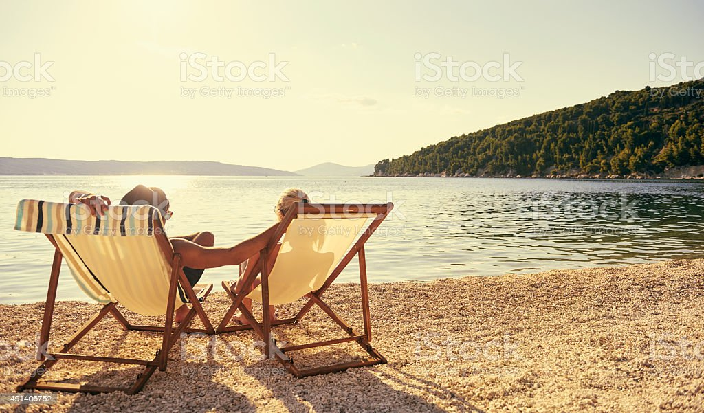 Beach lovers' paradise stock photo