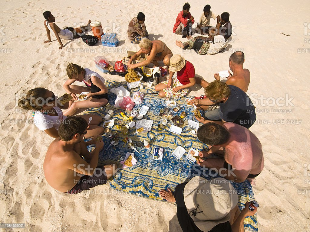 Beach lunch royalty-free stock photo
