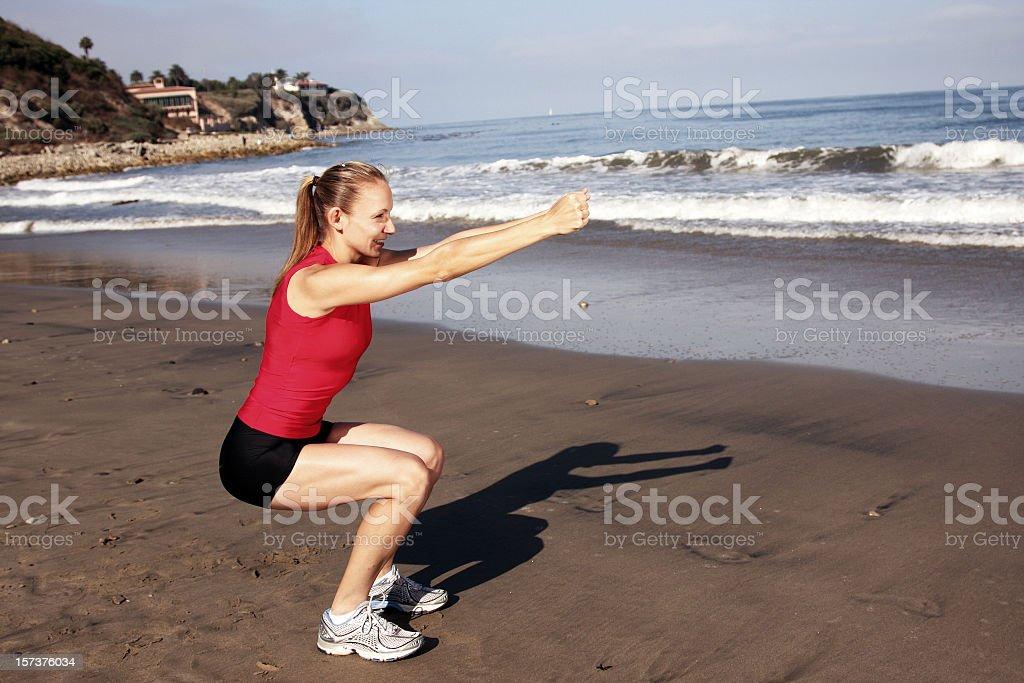 Beach Lunge royalty-free stock photo