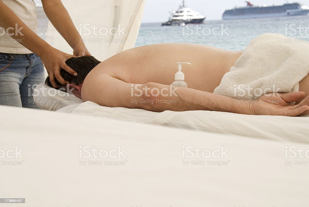 Beach massage royalty-free stock photo