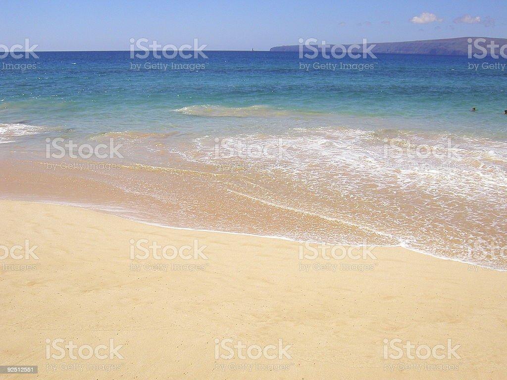 Beach, Maui, Hawaii. royalty-free stock photo
