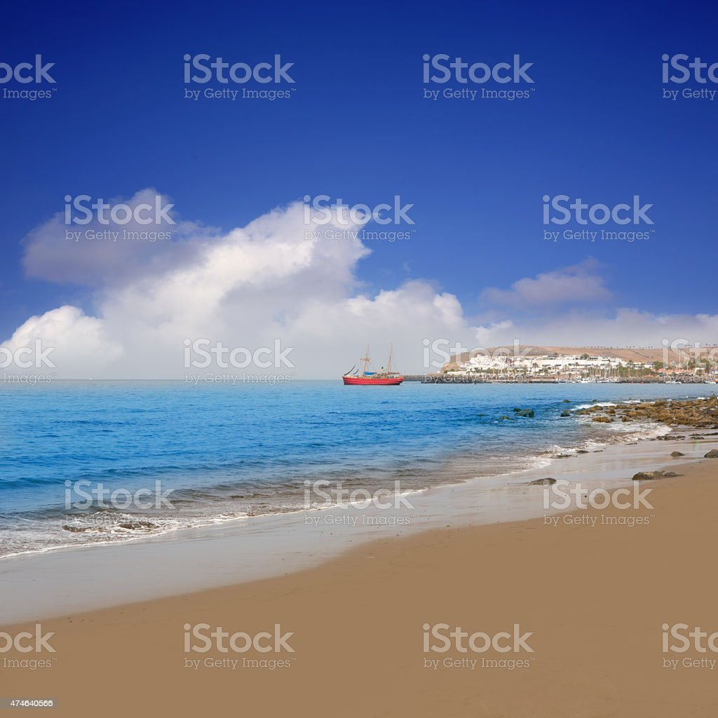 Beach Meloneras in Gran Canaria San Bartolome stock photo