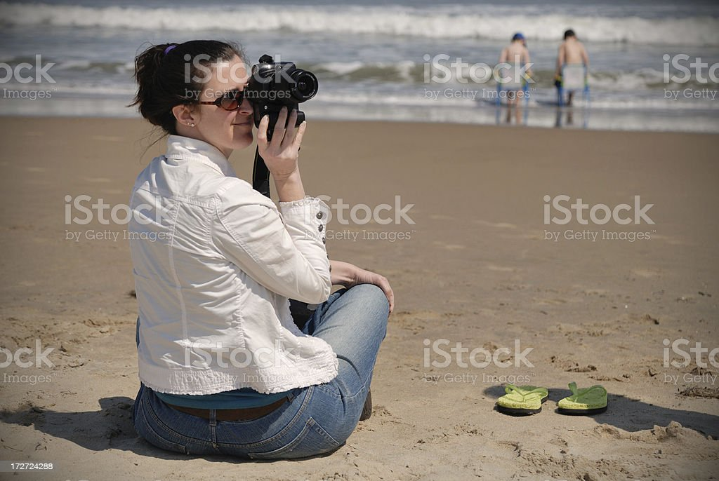 Beach Mom royalty-free stock photo