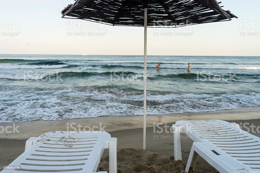 Beach mood stock photo