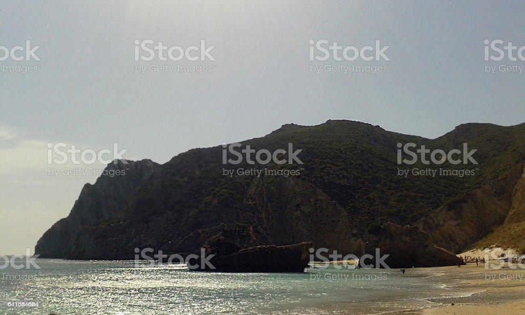 Beach Mountains stock photo
