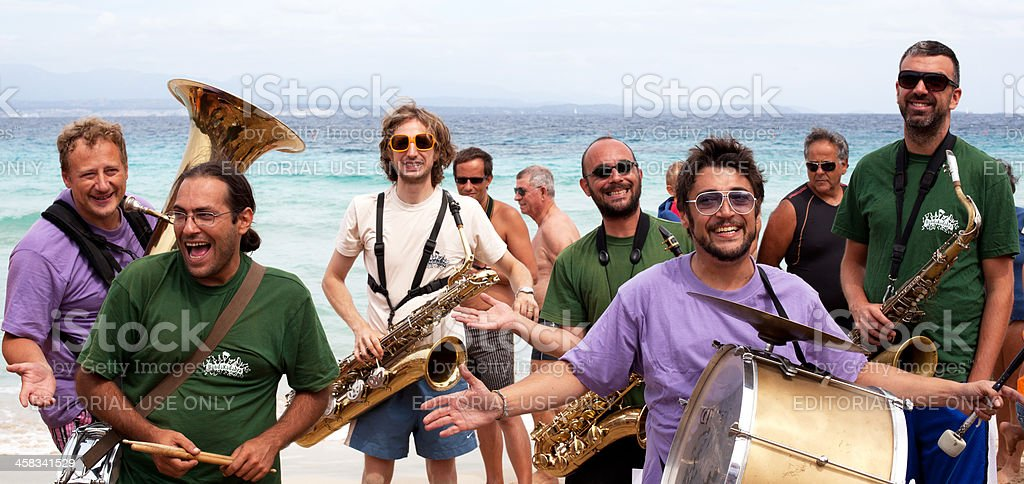 Beach Music and Smiling stock photo