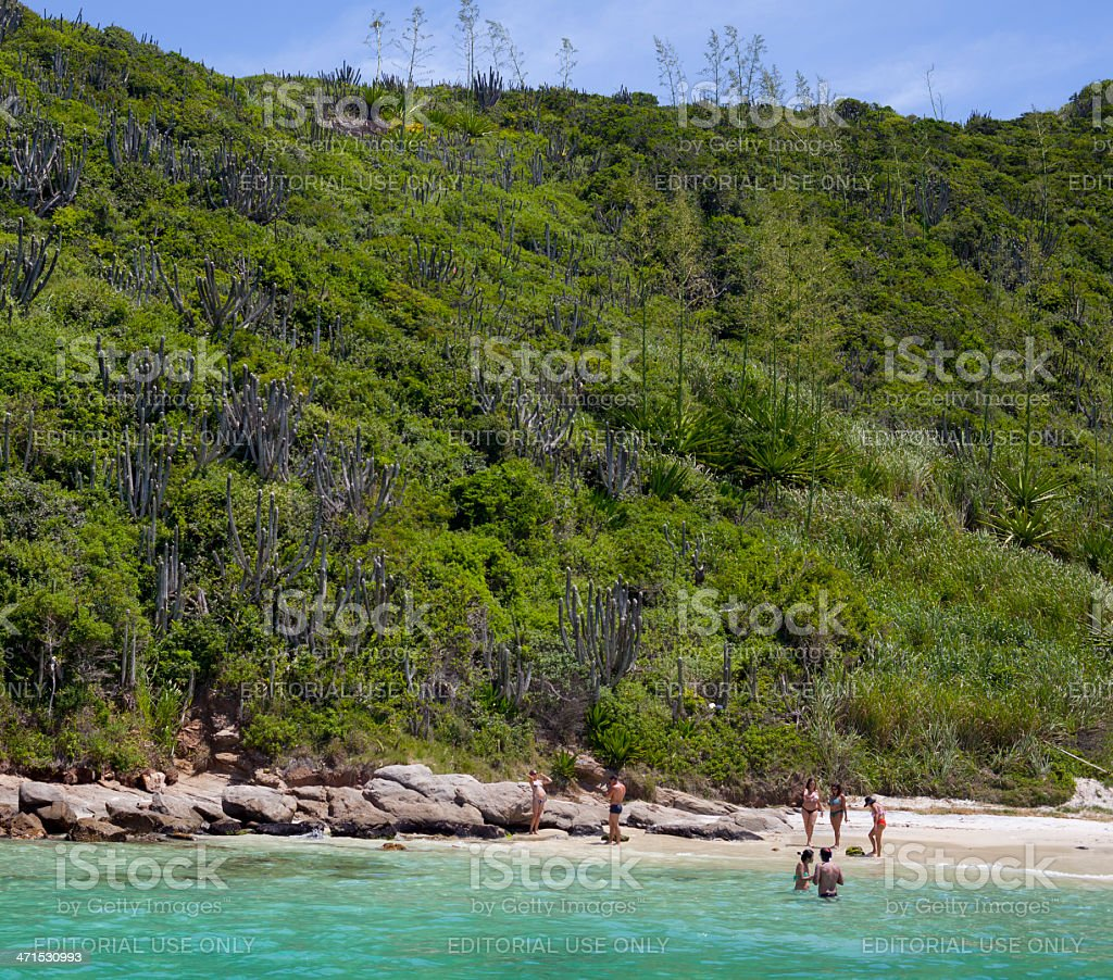 Beach near Cabo Frio, Brazil stock photo