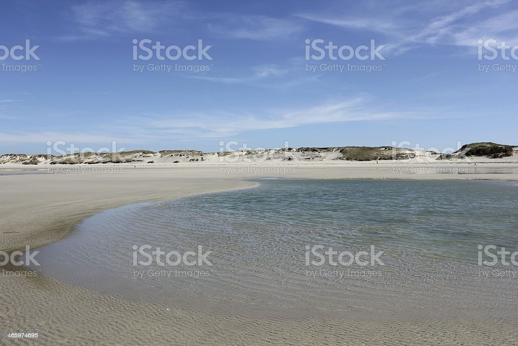 Beach near Penmarch in Brittany France royalty-free stock photo
