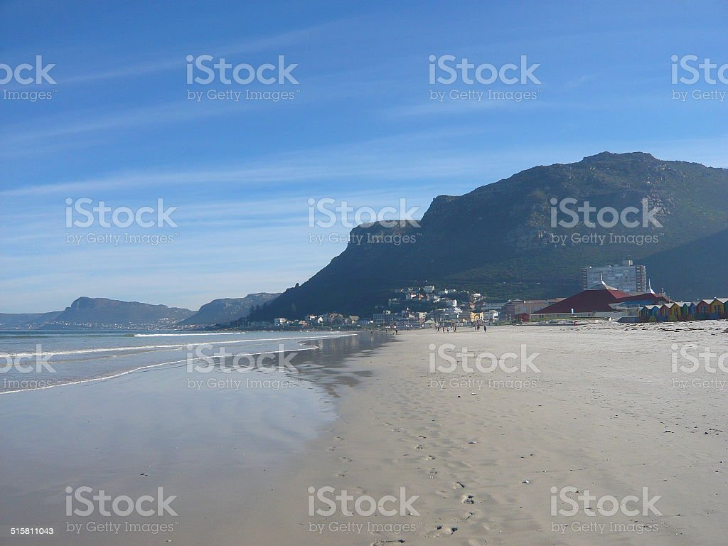 Beach next to mountain royalty-free stock photo