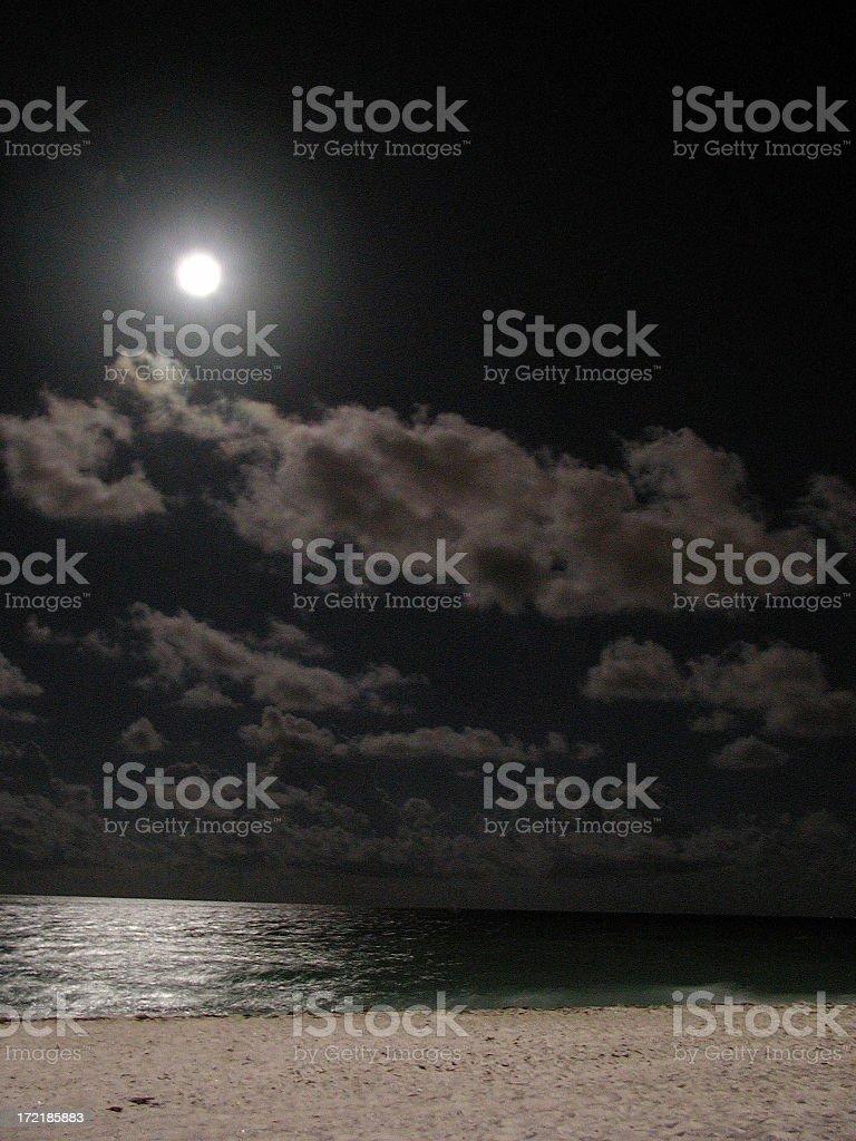 Beach Night 2 royalty-free stock photo