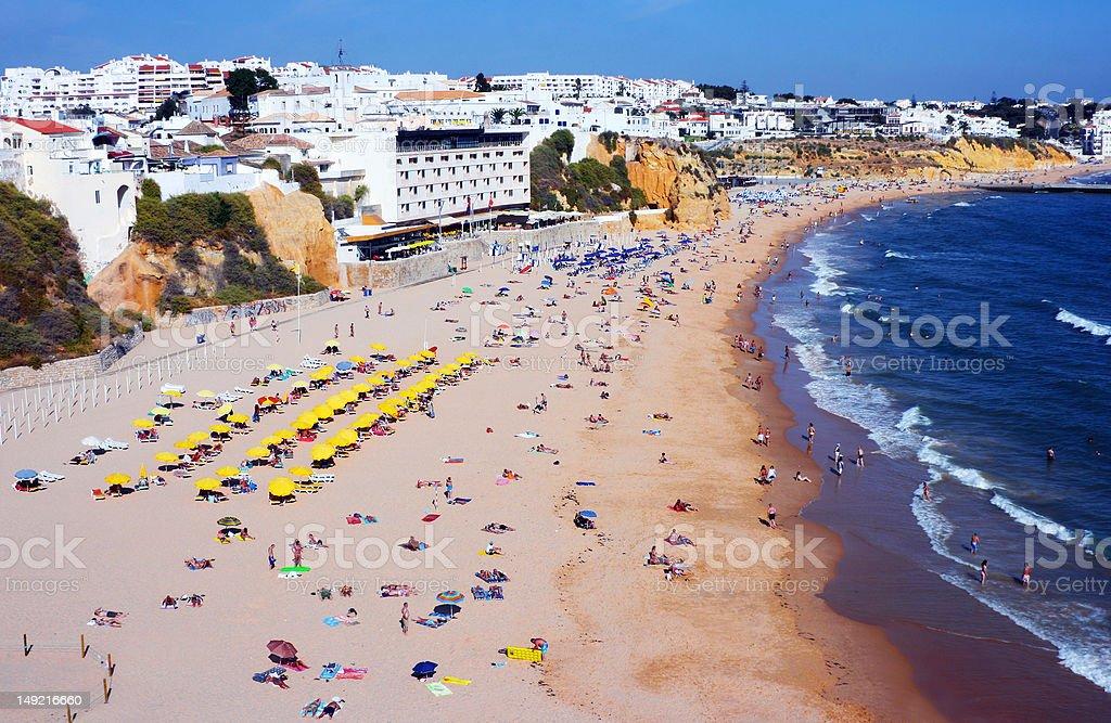 Beach of Albufeira stock photo