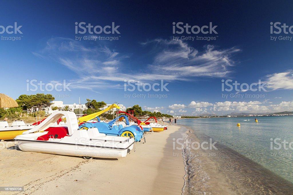 Beach of Alcudia stock photo