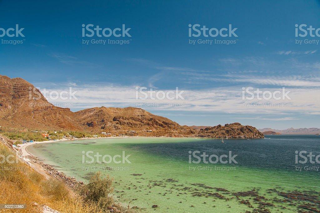 Beach of Baja California stock photo