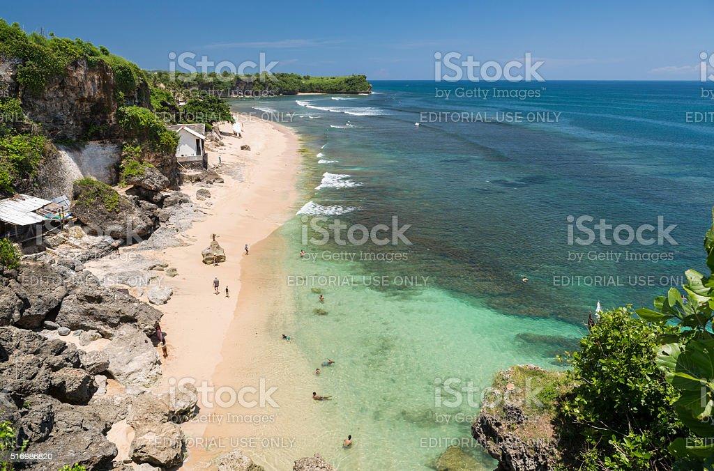 Beach of Balangan in Bali stock photo