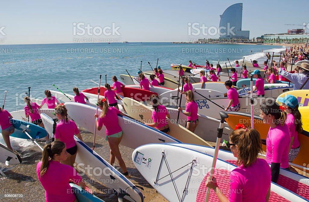 Beach of Barcelona stock photo