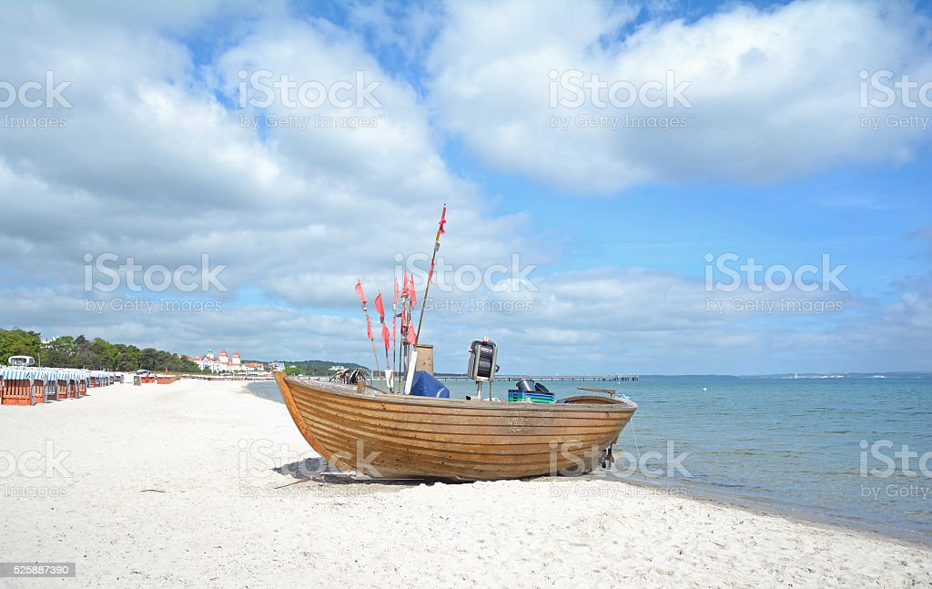 Beach of Binz,Ruegen Island,Germany stock photo