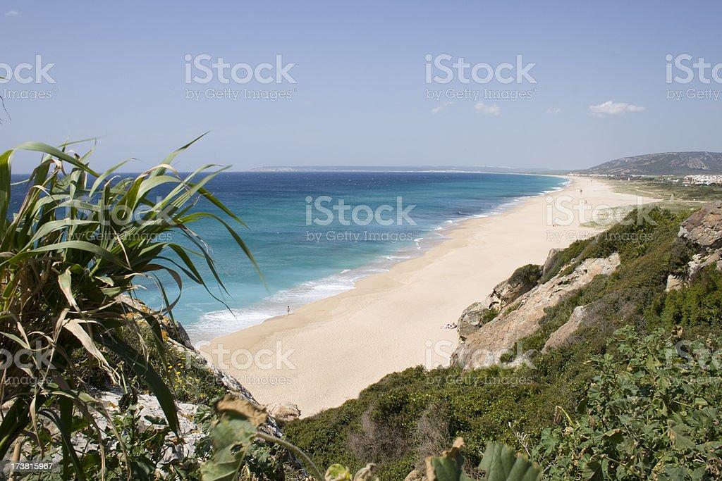 Beach of Cadiz royalty-free stock photo