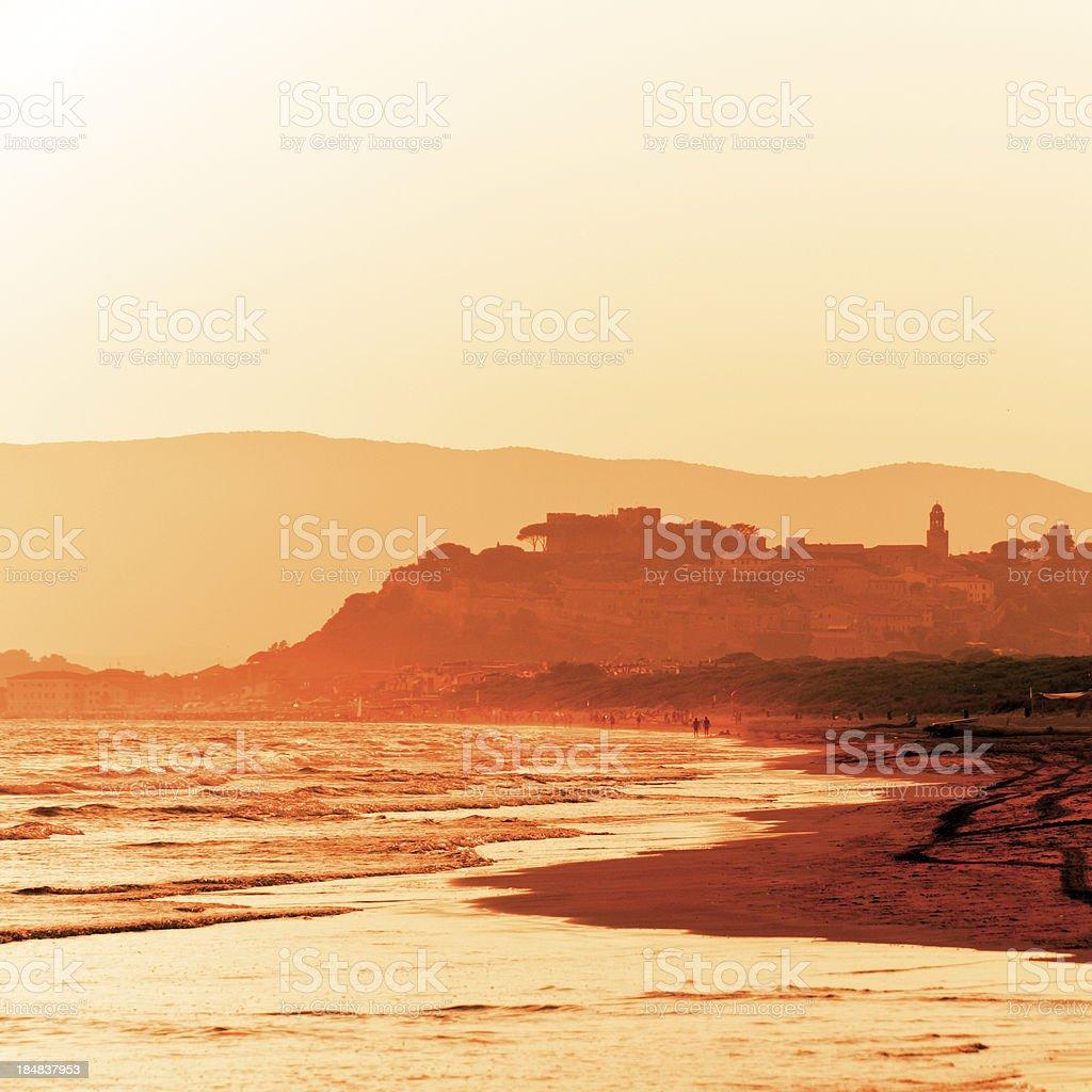 Beach of Castiglione, Tuscany royalty-free stock photo