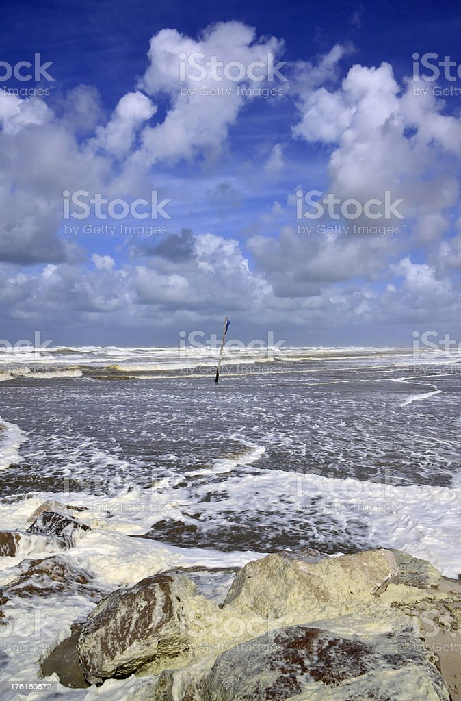 Beach of Cayeux sur Mer, Somme, France royalty-free stock photo