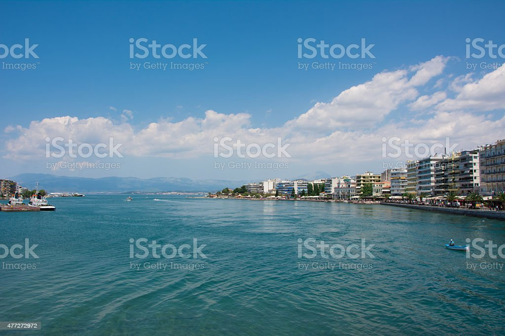 Beach of Chalkis, Greece stock photo