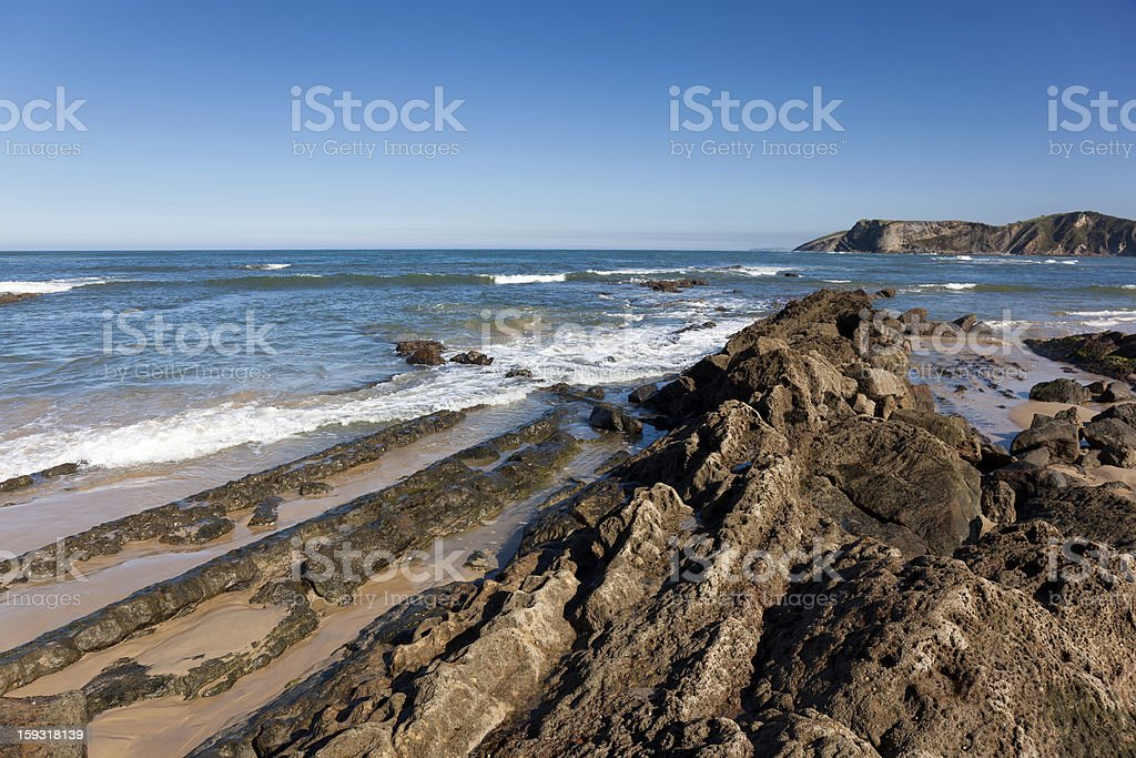 Beach of Comillas, Cantabria royalty-free stock photo
