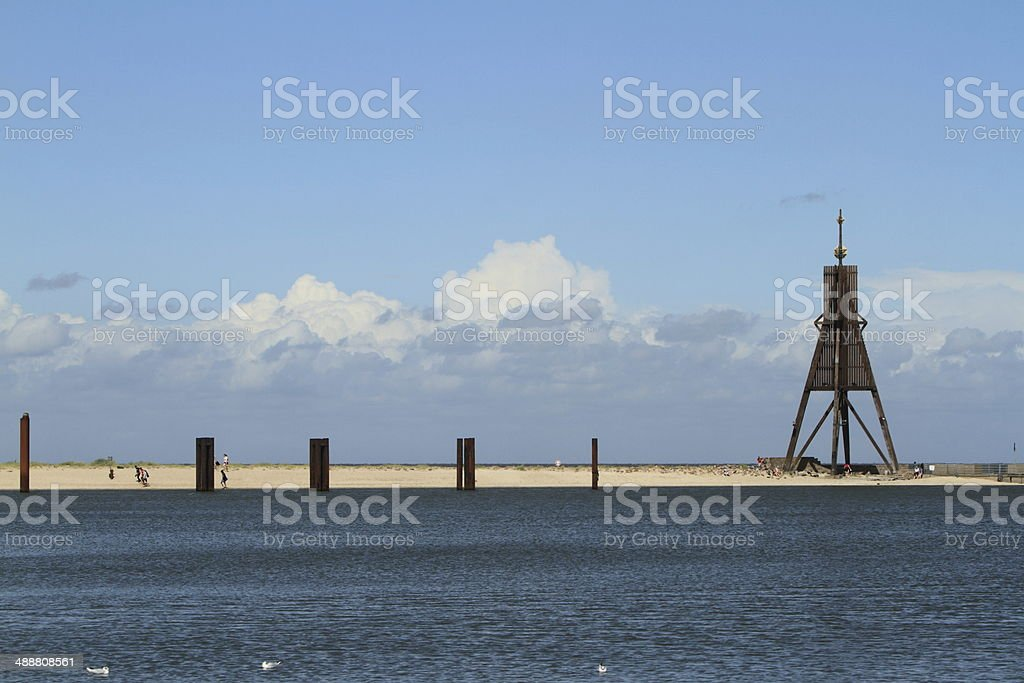 Beach of Cuxhaven stock photo