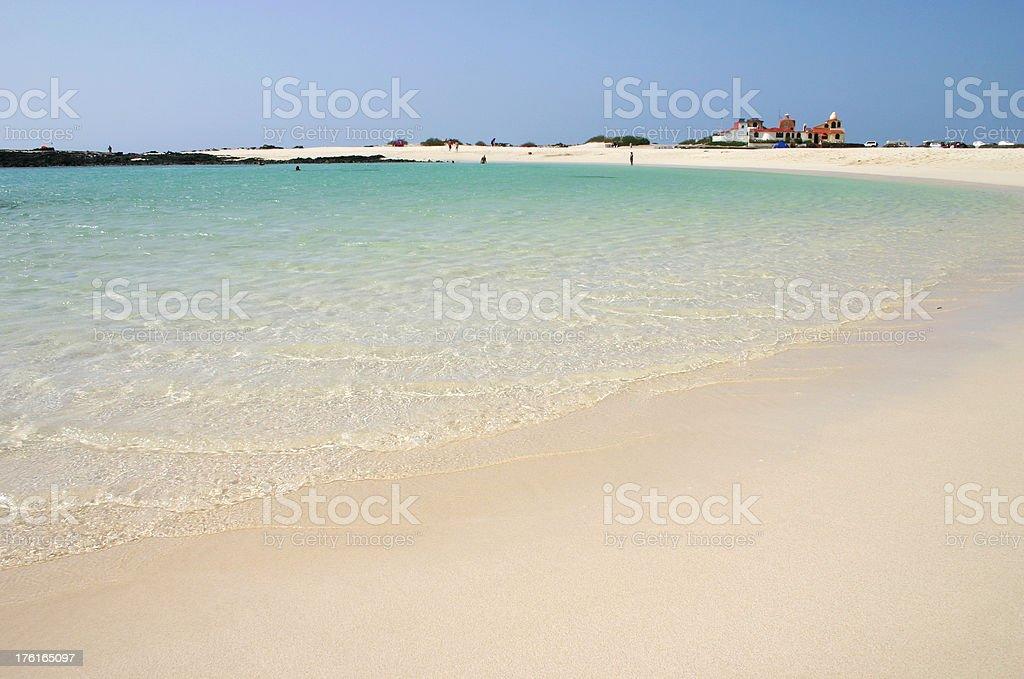 Beach of El Cotillo, Fuerteventura stock photo