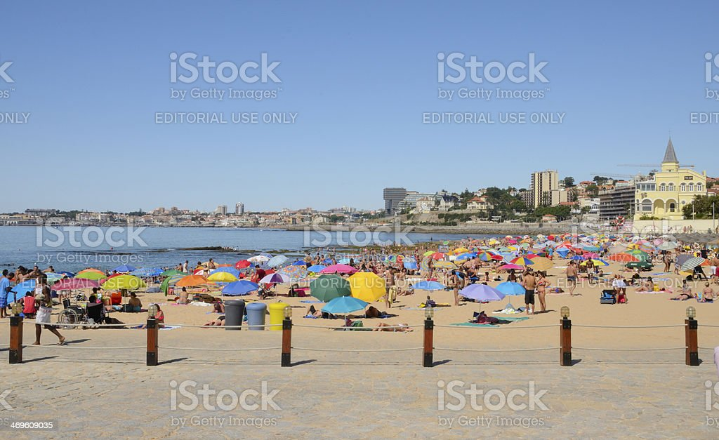 Beach of Estoril stock photo