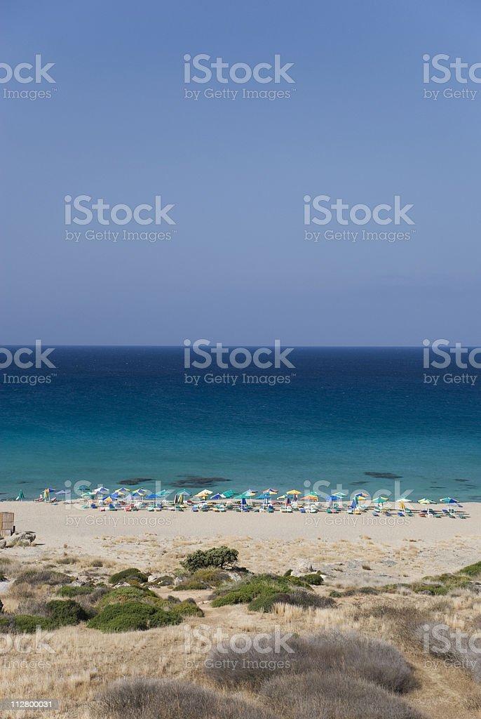 Beach of Falasarna, Crete islands royalty-free stock photo