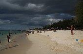 Beach of Flic en Flac, Cloudscape, Afternoon, Mauritius, Indian Ocean
