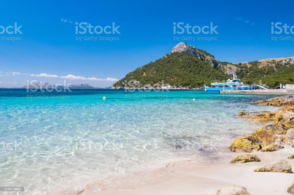 Beach of Formentor royalty-free stock photo
