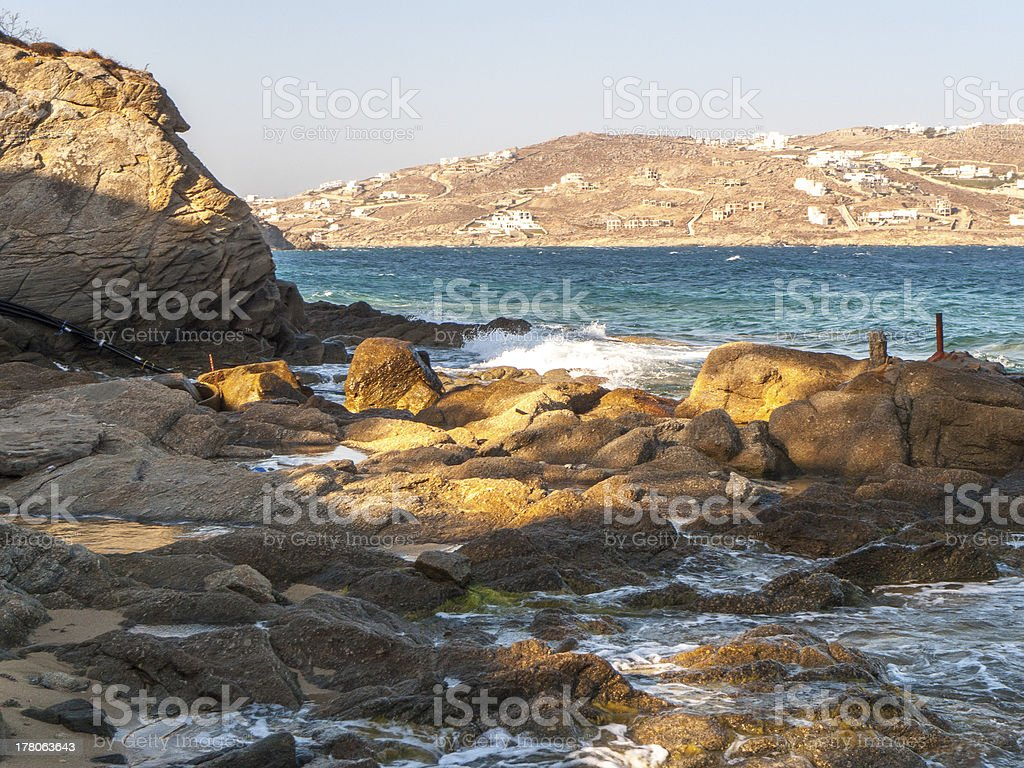 Beach of Grecce Mykonos royalty-free stock photo