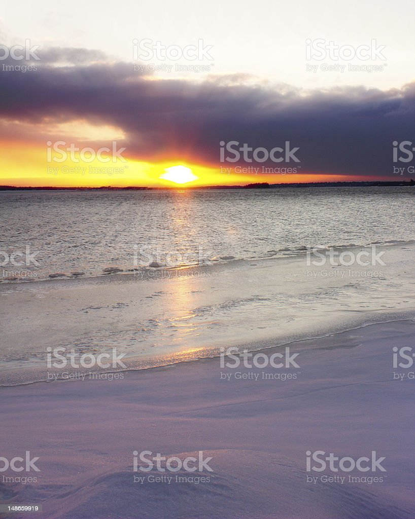 Beach of Ice royalty-free stock photo