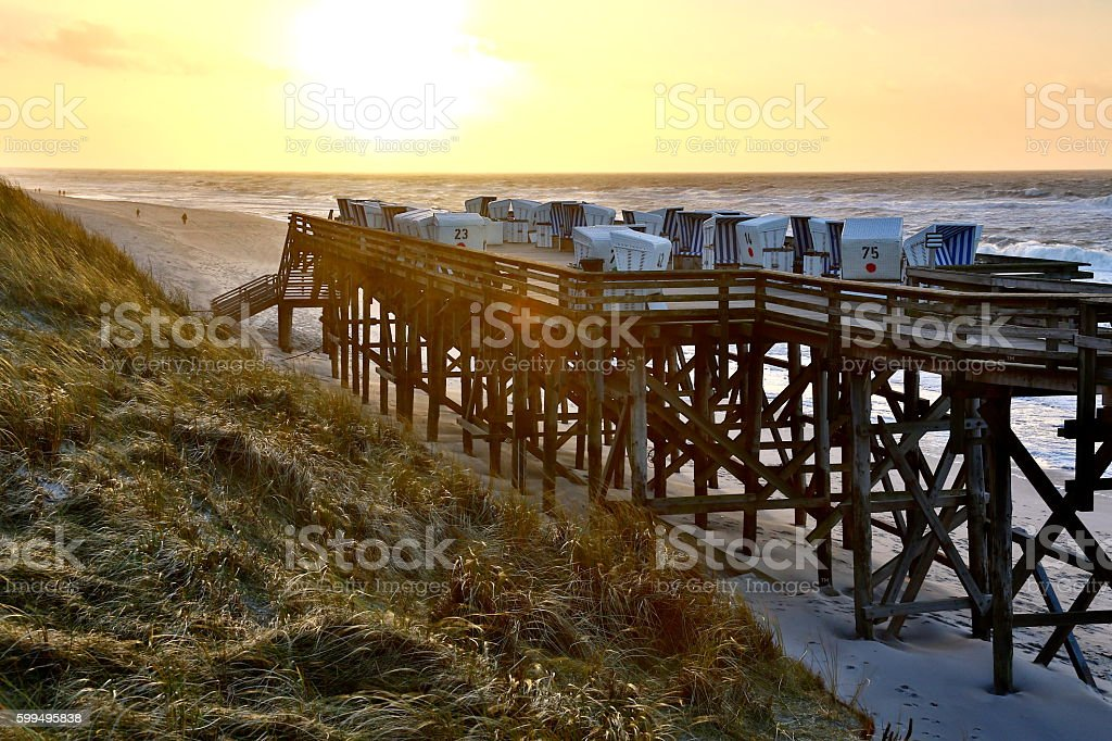 beach of Kampen, Sylt stock photo