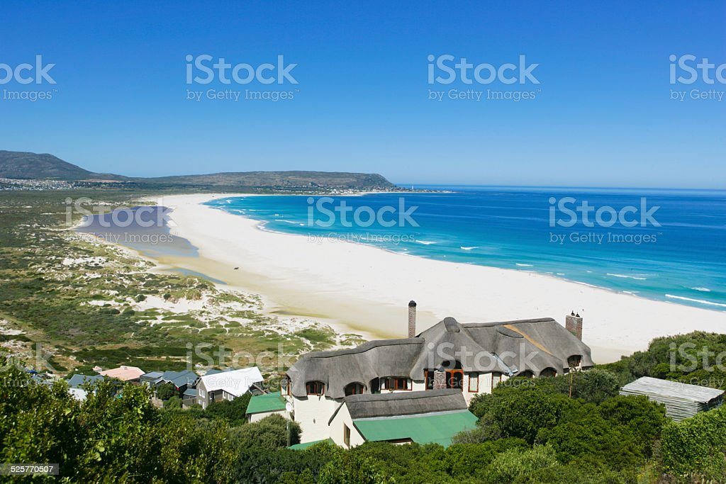 Beach of Kommetjie and Long Beach in South Africa stock photo