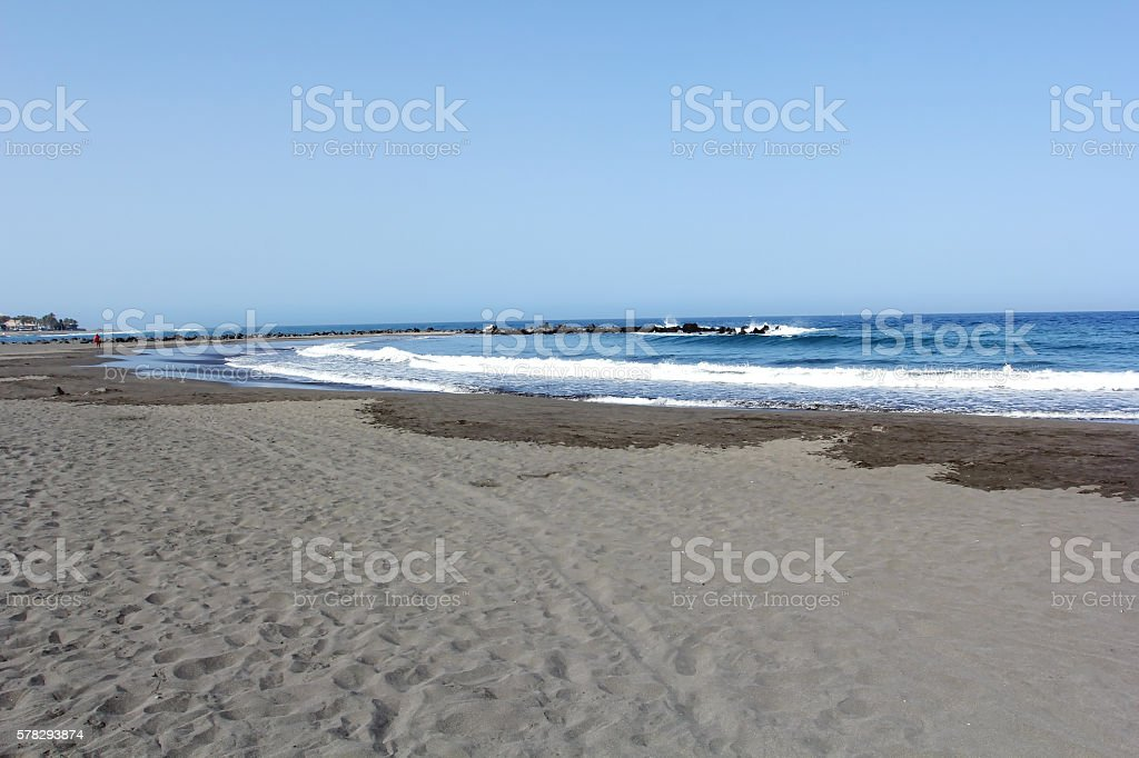Beach of Las America stock photo