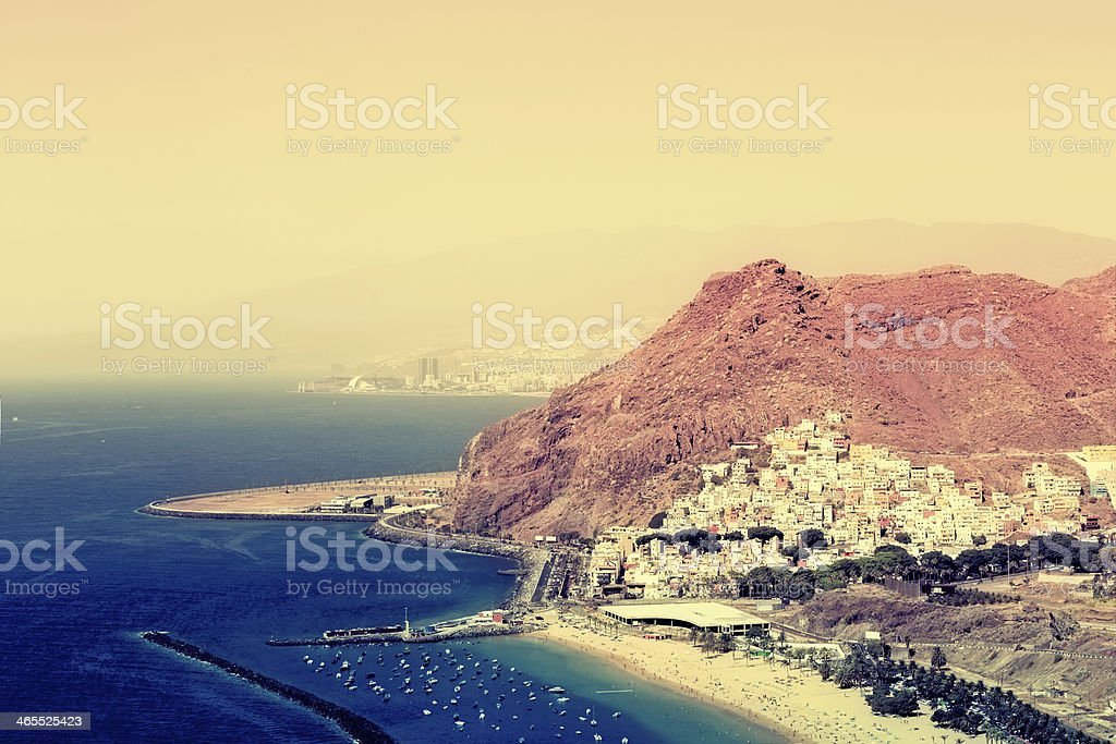 Playa de Las Teresitas in Tenerife stock photo