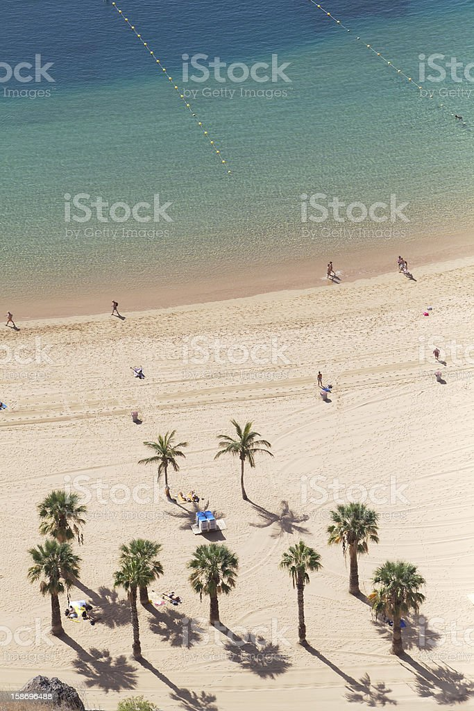 playa de les teresitas stock photo